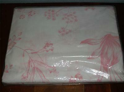 Vintage Sears Harmony Mates Full Sz Flat Sheet~Pattern Name Strawberry Pink