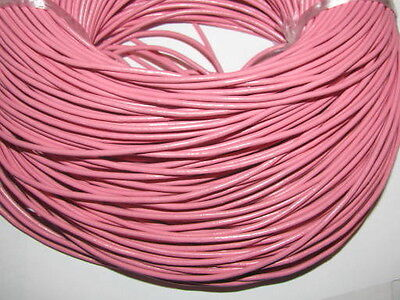 10M PINK GENUINE LEATHER CORD 2mm