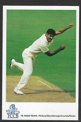 Waqar Younis Pakistan Official Tccb Cricket Postcard
