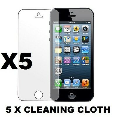 5 X Matte Anti Glare LCD Screen Protector Guard Cover Film For iPhone 5 5S 5C