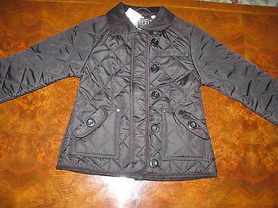 Bnwt NEXT Girls Black Fleece Lined  Quilted  Jacket Coat  3-4-5-6 yrs RP £30
