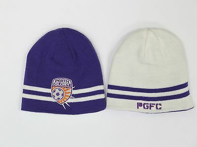 Perth Glory Hyundai A-League Team Reversible Beanie * 2 Hats in 1!