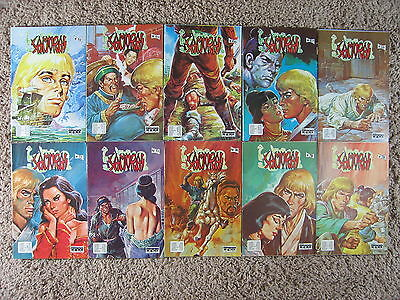 Lot of 10 SAMURAI comics in Spanish from 1983 - acquired in Puerto Rico