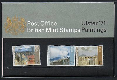 QEII 1971 Presentation Pack Ulster 1971 Paintings Stamps