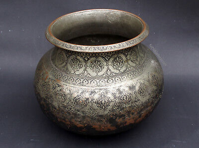 Antique islamic Bukhara Afghan  18th to 19th century cooking pot Kupfertopf دیگ