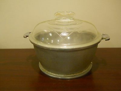 """Guardian Service Ware Hammered Aluminum 9"""" Casserole Dutch Oven with Glass LID"""