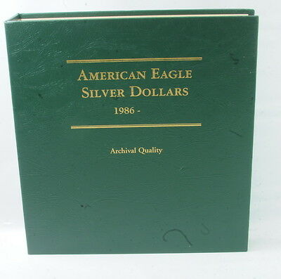 1986 - 2012 American Eagle Silver Dollars Archival Quality Littleton Coin Album
