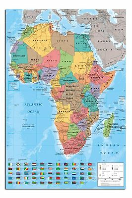 Africa Map Wall Chart Large Maxi Wall Poster New - Laminated Available