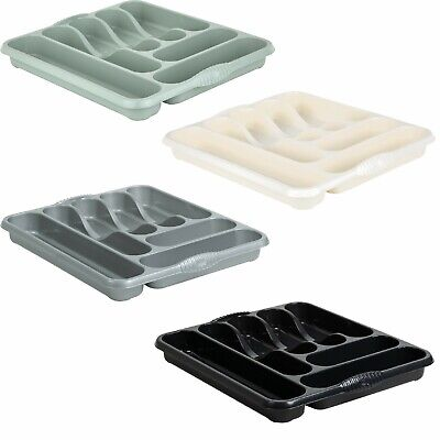 High Grade Wham 7 Compartment Plastic Cutlery Holder Storage Tray Rack