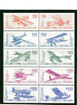 Chile 2013 Old Airplanes 10 stamps MNH