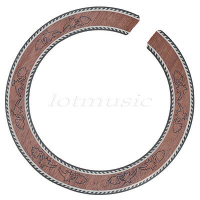 1pc Acoustic Guitar Sound Hole Rosette  Wood Rosette Body Project Inlay