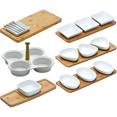 White Porcelain Snack Bowls Nibbles Dips Trays Serving Tapas Dishes Nuts Olives