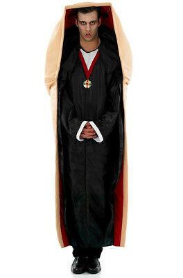 Mens Vampire In A Coffin Count Dracula Costume Funny Halloween Fancy Dress