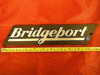 Bridgeport Mill Part, Milling Machine Name Plate For The Ram 11060502 New!