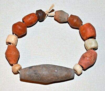 Set Of Excavated Terracotta Beads From Mali African Trade