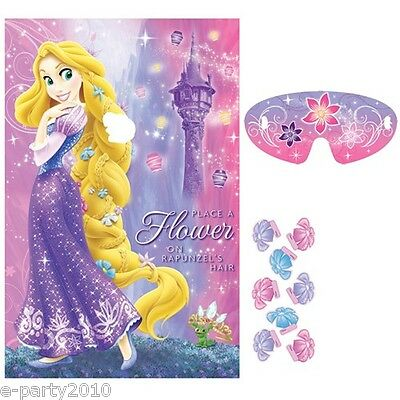 Disney Princess TANGLED PARTY GAME POSTER ~ Birthday Supplies Room Decorations
