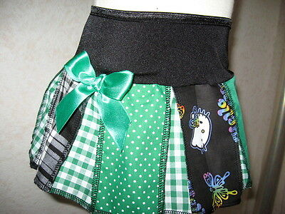 Baby Girls Green,White,Black,Kitty,Check,Spots,tartan Skirt,Retro,Gift,Party