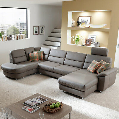 ecksofa delano wohnlandschaft sofa in grau und braun mit bettfunktion rechts eur. Black Bedroom Furniture Sets. Home Design Ideas