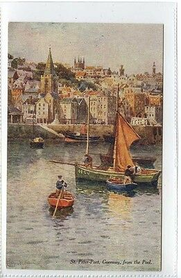 (Ge421-373) St.Peter-Port, Guernsey from the Pool  c1910, Unused EX, H B Wimbush