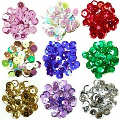 8mm Cup Sequins 12 Colours Sewing Embellishments
