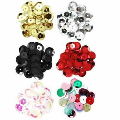 The Craft Factory 10mm Cup Sequins 6 Colours Sewing Embellishments
