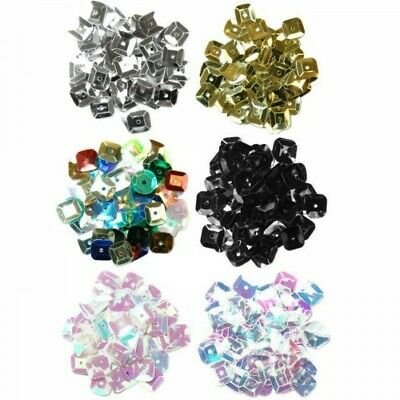 7mm Square Sequins 6 Colours 5g The Craft Factory