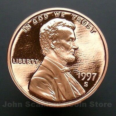 1997-S Lincoln Memorial Cent Penny - Gem Proof Deep Cameo U.S. Coin