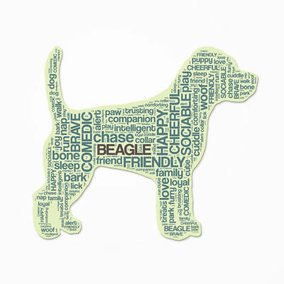 Beagle Dog Breed Cutout Vinyl Decal Bumper Sticker Characteristic Silhouette