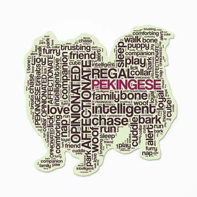 Pekingese Characteristic Decal Bumper Sticker