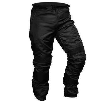 Motorcycle Waterproof Trousers CE Armoured Black Motorbike Textile Thermal Pants