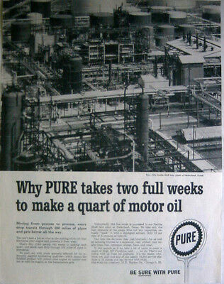 1958 Pure Oil - Smiths Bluff Lube Plant Of Nederland, Texas - Print Ad!