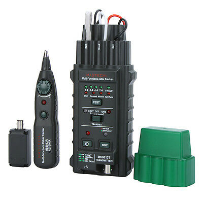 Twisted-pair Network Cable Tester Telephone Line Detector Tracker BNC RJ45 RJ11