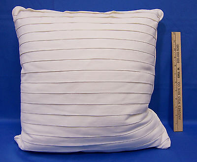 Target Home White Pleated Ruffle Throw Decorative Pillow Square 100% Cotton