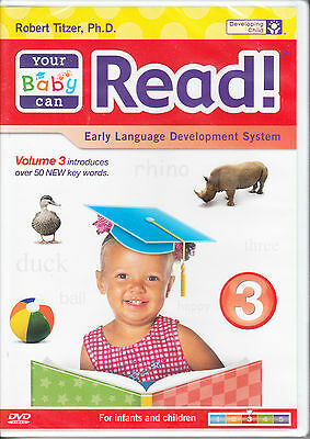Your Baby Can Read Vol. 3 -- NEW DVD Early Language Development