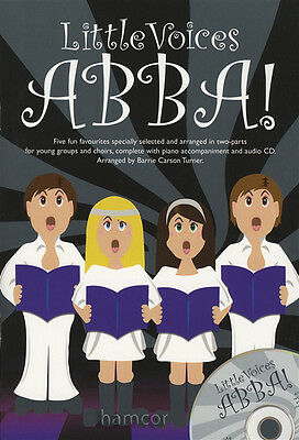 Little Voices Abba Young Group Choir 2-Part Piano Vocal Music Book/CD