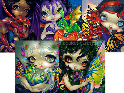 Jasmine Becket-Griffith SIGNED Verdigris and A Wistful Moment 2 art print set