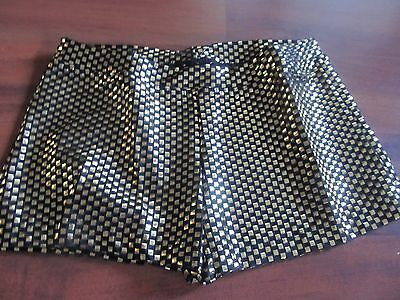 New Girls Black Booty Short with Gold Foil Dance Gymnastic M-L Capezio