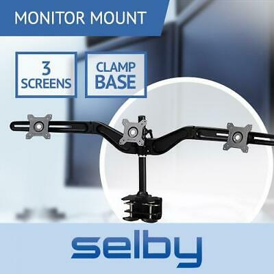 "15-24"" Triple 3 LCD Screen Computer Monitor Desktop VESA Mount Stand Clamp Base"