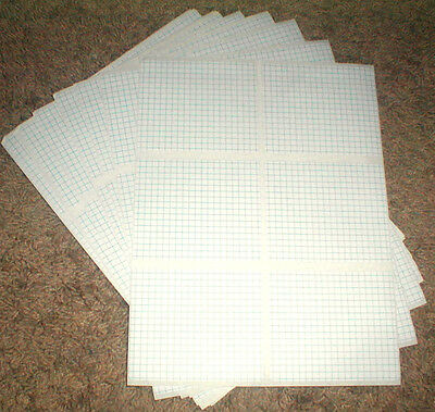 "Pack of 90 Self Adhesive Labels 4"" x 3 3/8"" with Blue Line Grid Pattern"