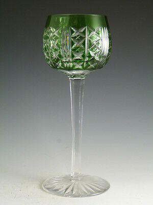 """ST LOUIS Crystal - RIESLING Design - Hock Wine (Roemer) Glass / Glasses - 7 1/4"""""""