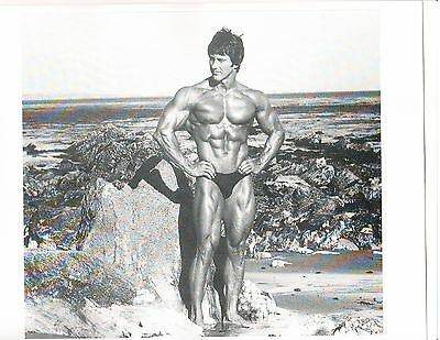 Frank Zane Mr Olympia Mr World Bodybuilding Muscle B+W Photo