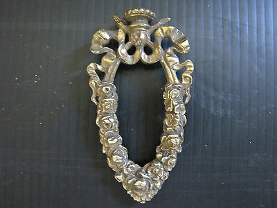 Beautiful Rare Rose Garland Finial W/ Ribbon 5693