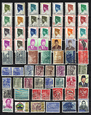Asia INDONESIA Old Stamp Collection Used REF PA270