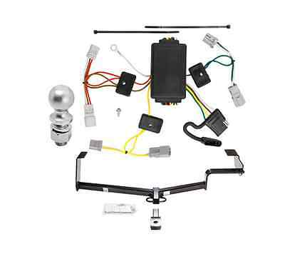"""Class 1 Trailer Hitch Receiver Tow Kit w/ Wiring & 2"""" Ball for Honda Civic Coupe"""