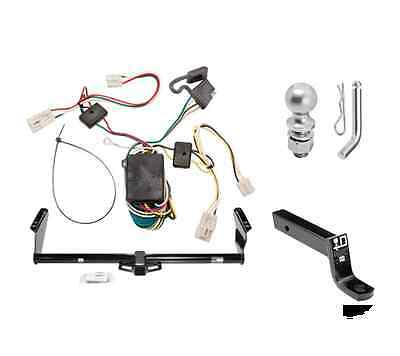 """Class 3 Trailer Hitch Receiver Tow Kit w/ 2"""" Ball & Wiring for 2004-2010 Sienna"""
