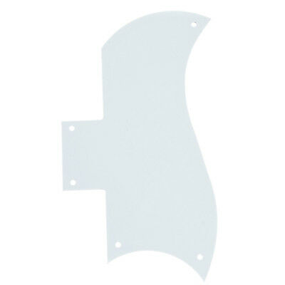 Guitar Pickguard Scratch Plate for Gibson SG Parts Replacement 3Ply White ABS