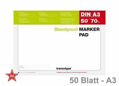 COPIC Marker Pad Block Layoutblock Design 50 Blatt 70g DIN A3