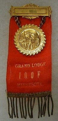 Vintage INDEPENDENT ORDER of ODD FELLOWS IOOF MINNESOTA GRAND LODGE BADGE MEDAL
