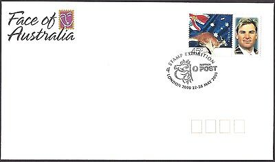 AUSTRALIA 2000 SHANE WARNE CRICKET Australia Post Personalised Stamp FDC