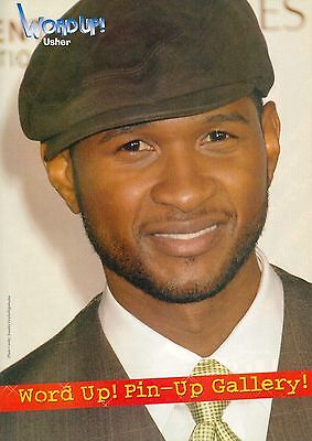 "USHER - CHRIS BROWN - 11"" x 8"" MAGAZINE PINUP - CLIPPING - MINI POSTER - 2008"
